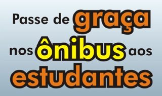 PASSE GRATIS NOS ÔNIBUS