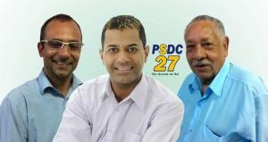 Presidente do Partido Social Democrata Cristão (PSDC) - do Estado do Rio Grande do Sul, Luis Carlos Coelho Prates, e o presidente do PSDC de Viamão, Cleber Romero,