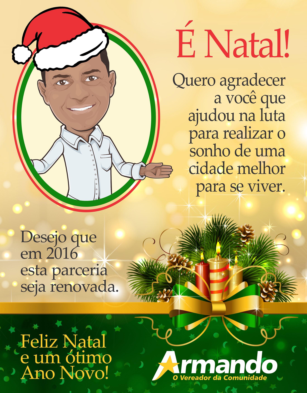 Natal 2015 Vereador Armando mensagem